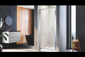 Single Glass Shower Door Layout
