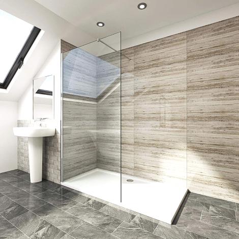 Elegant Walk In Shower Panel