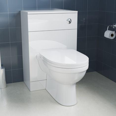 Elegant Gloss White Back To Wall Toilet Unit (500×300×770mm )