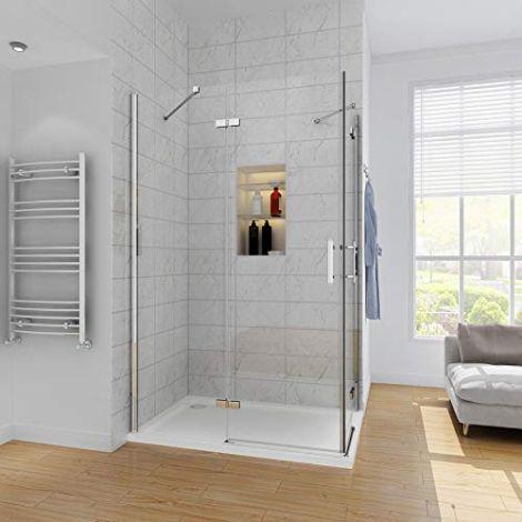 Elegant 1200X900 Pivot Frameless Corner Entry Shower Enclosure 6mm Tempered Glass Cubicle