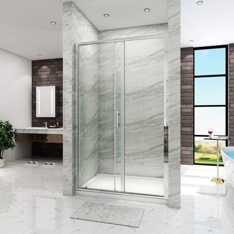 ELEGANT Bathroom SlidingDoor Shower Enclosure -6mm -Glass Side panelCubicle