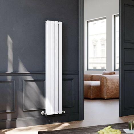 ELEGANT 1600 x300mm Vertical Designer Double White Flat Panel Column Radiator