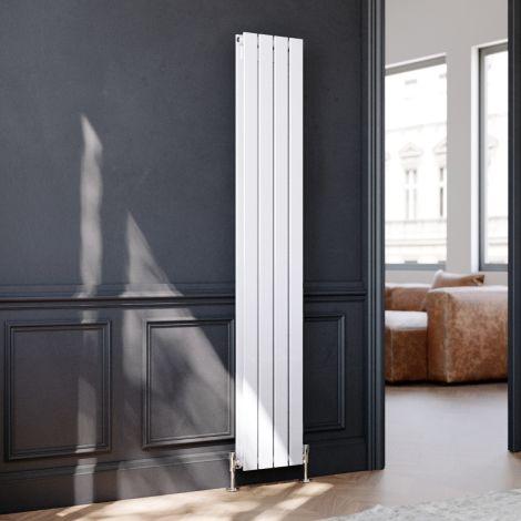 ELEGANT 1800 x300mm Vertical Designer Double White Flat Panel Column Radiator