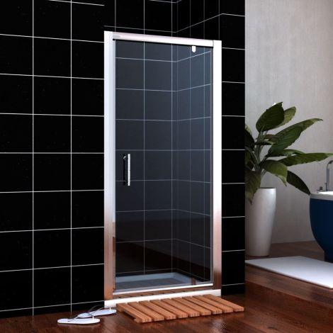 ELEGANT 800mm Framed Pivot Hinged Shower Door 6mm Tempered Glass Swing Door