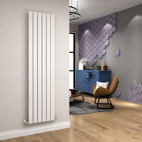 ELEGANT 1800 x452mm Vertical Column Designer Single White Flat Panel Radiator