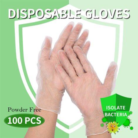 Elegant (Medium) 100Pcs Disposable Gloves Powder Free Protection