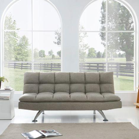 ELEGANT Gray Color Folding Sofa Bed