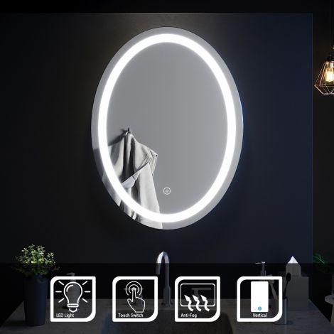 ELEGANT 800x600MM LED ILLUMINATED Bathroom Mirror Make Up Light Smart Touch Control