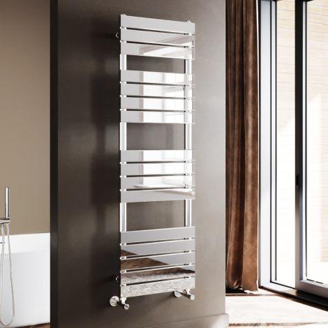 ELEGANT 1600 x 500mm Modern Design Chrome Flat Panel Heated Towel Rails Radiators