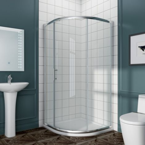 Elegant 900x900mm Single Sliding Curved Glass Quadrant Shower Enclosure 5mm Tempered Glass Shower Cubicle