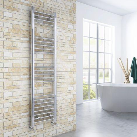 ELEGANT 1600x400mm  Straight Chrome Heated Towel Rail Rad Radiator Bathroom Central Heating