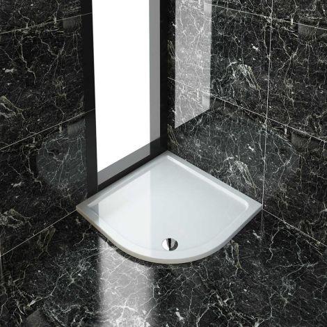 ELEGANT Stone Shower Tray with Free Waste for Quadrant Shower Enclosure  3 Sizes