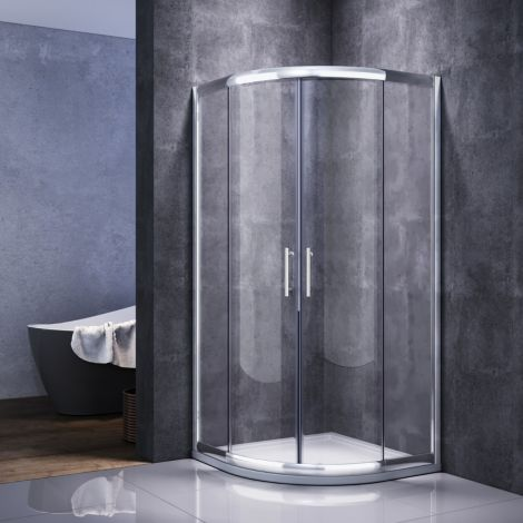 ELEGANT 1000X1000 Quadrant Shower Enclousure 6mm Tempered Glass Cubicle