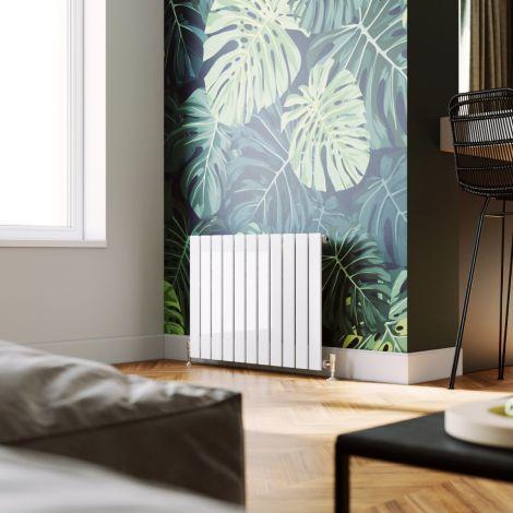 ELEGANT 600X836 White Horizontal Designer Single/Double Column Flat Panel Radiator