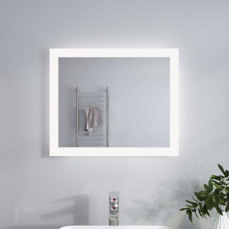 ELEGANT 600x500mm Frameless Illumiated LED Bathroom Mirror Light IP44 TOUCH