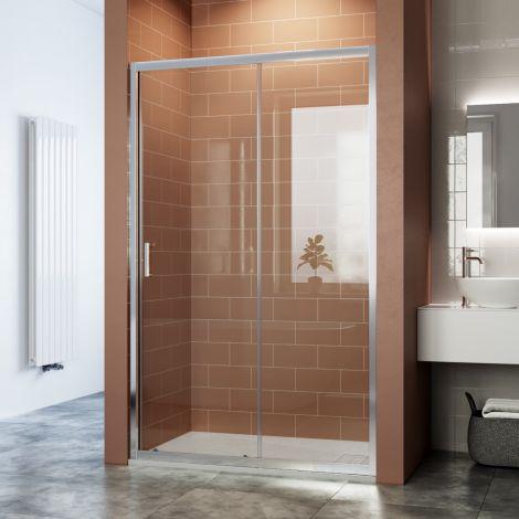 ELEGANT 1100mm Bathroom Sliding Shower Door 6mm Tempered Glass Shower Screen