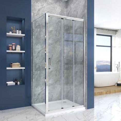Elegant 1000x700mm Shower Enclosure Sliding Door Cubicle Side Panel