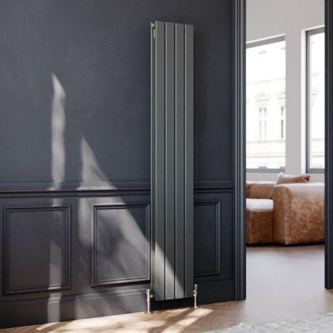 ELEGANT 1800 x 300mm Vertical Column Designer Double Anthracite Flat Panel Radiator