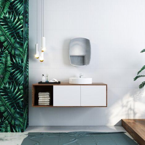 ELEGANT 450x600mm Modern Bathroom Mirror Cabinet Storage Cupboards Stainless Steel
