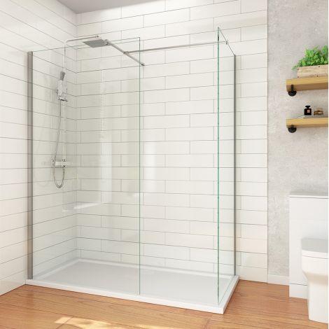 ELEGANT 900mm Walk In Shower Cubicle Shower Enclosure 8mm Easy Clean Glass