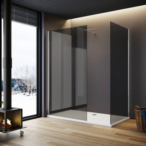 ELEGANT WetRoom Panels  - 8mm - Easy Clean Shower Screen Set