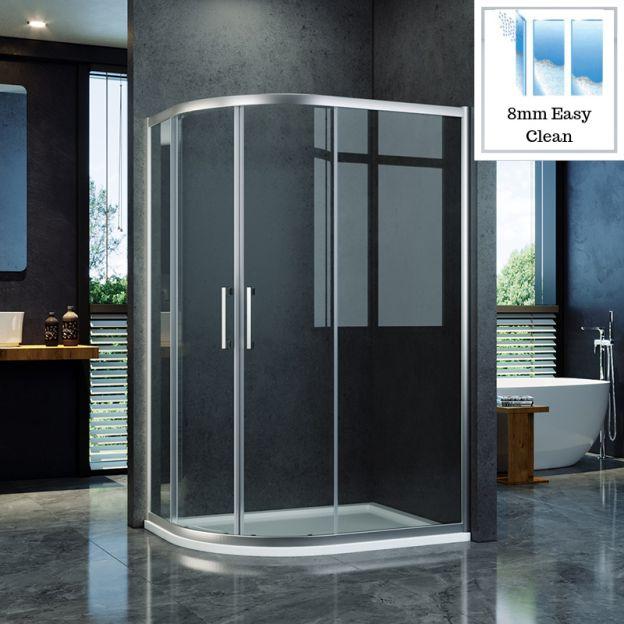 Easy Clean Nano Glass Shower Doors, Shower Stall Glass Doors Clean