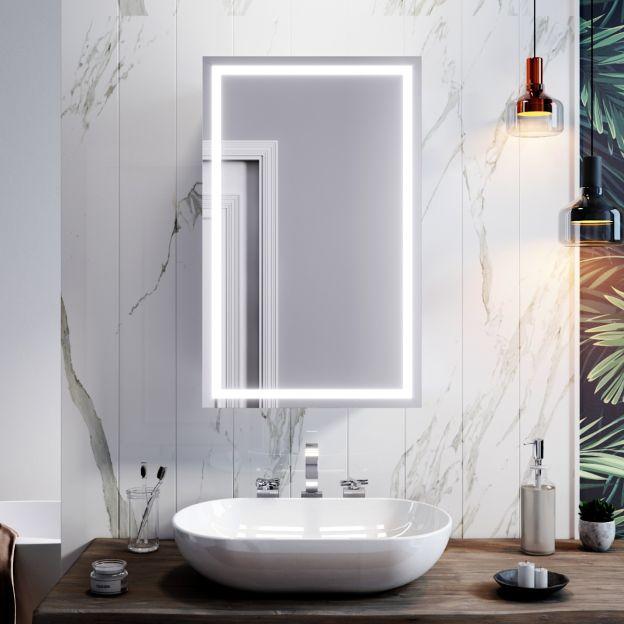 Up Bathroom Mirror Cabinet Shelf, Light Up Bathroom Mirror Cupboard